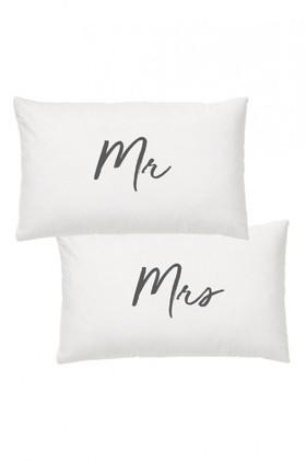 Splosh-Wedding-Mr-Mrs-Pillow-Case-Set on sale