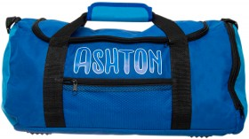 Personalised-Navy-Blue-Sports-Bag on sale