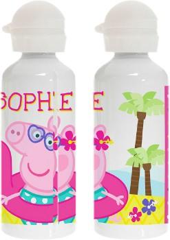 Personalised-Peppa-Pig-Summer-Fun-Stainless-Steel-Drink-Bottle on sale