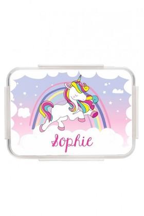 Personalised-Unicorn-Pink-Bento-Lunch-Box on sale