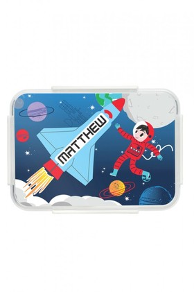 Personalised-Rocket-Blue-Bento-Lunch-Box on sale