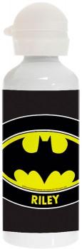 Personalised-Batman-Logo-Stainless-Steel-Drink-Bottle on sale