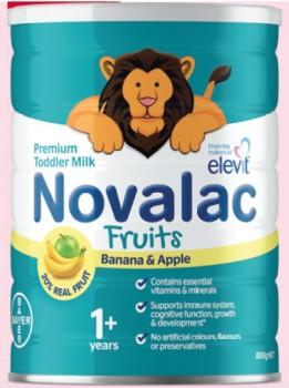 NEW-Novalac-Toddler-Fruits-Banana-Apple-800g on sale