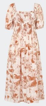 Womens-Shirred-Bodice-Dress on sale