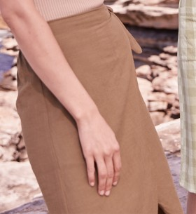 Womens-Wrap-Midi-Skirt on sale