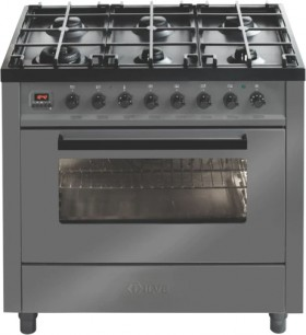 NEW-ILVE-90cm-Dual-Fuel-Upright-Cooker-Grey-Black on sale