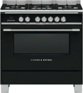 Fisher-Paykal-90cm-Dual-Fuel-Freestanding-Cooker-Black on sale