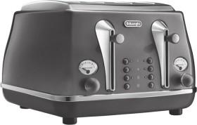 NEW-DeLonghi-Icona-Metallics-4-Slice-Toaster-Iridescent-Grey on sale