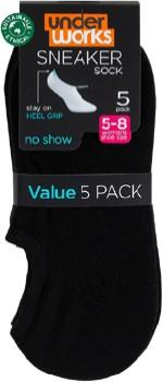 Underworks-Womens-5-Pack-Sneaker-Socks on sale