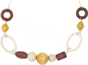 me-Circle-And-Bead-Necklace-Gold-Tone on sale
