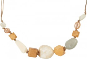 me-Beaded-Necklace-Brown on sale