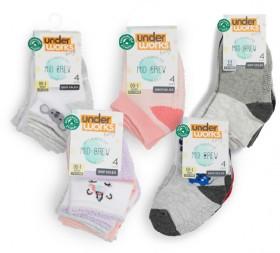 Underworks-Baby-4-Pack-Mid-Crew-Socks on sale