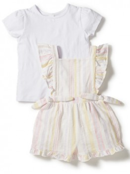 Dymples-Bow-Romper-and-Tee-Set on sale