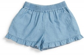 K-D-Kids-Chambray-Frill-Shorts on sale