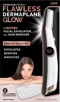 Flawless-Dermaplane-Glow-Facial-Exfoliator-Hair-Remover on sale