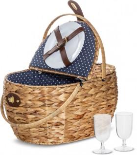 Australian-House-Garden-Bulrush-Picnic-Basket-for-2 on sale