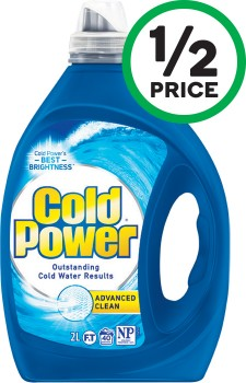Cold-Power-Advanced-Laundry-Liquid-1.8-2-Litre-or-Powder-1.8-2-kg on sale