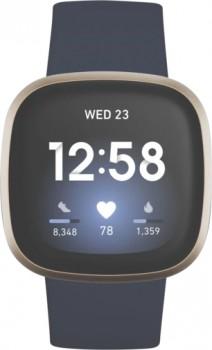 NEW-Fitbit-Versa-3-Midnight-BlueSoft-Gold on sale