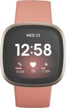 NEW-Fitbit-Versa-3-Pink-ClaySoft-Gold on sale