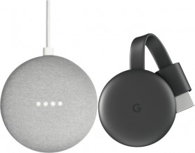 Google-Nest-Mini-and-Chromecast-Package on sale