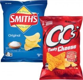 Smiths-Crinkle-Cut-Potato-Chips-150g-170g-or-CCs-Corn-Chips-175g on sale