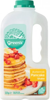 Greens-Pancake-Shake-300g-375g on sale