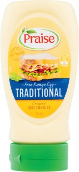 Praise-Squeeze-Mayonnaise-365g-410g on sale