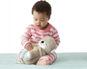 NEW-Fisher-Price-Soothe-and-Snuggle-Otter on sale