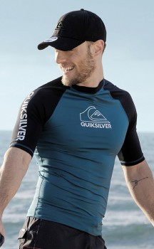 Quiksilver-Mens-On-Tour-Short-Sleeve-Rash-Vest on sale