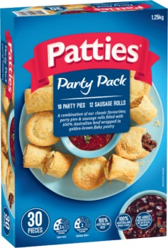 Patties-Party-Pack-30-Pack-1.25kg-or-Mini-Combo-40-Pack-1kg on sale
