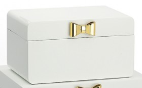 Harlow-Small-White-Jewellery-Boxes-with-Bow on sale
