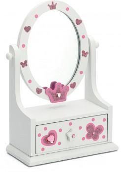 White-Pink-Vanity-Mirror-Jewellery-Box on sale
