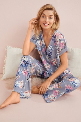 Mia-Lucce-Waffle-Button-Up-PJ-Top on sale