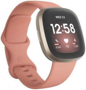 Fitbit-Versa-3-Pink-ClaySoft-Gold on sale