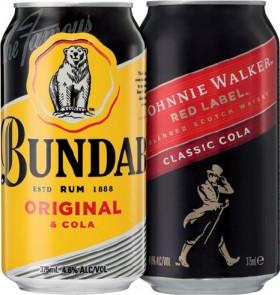 Bundaberg-U.P.-Rum-or-Johnnie-Walker-Red-Cola-4.6-10-Pack on sale