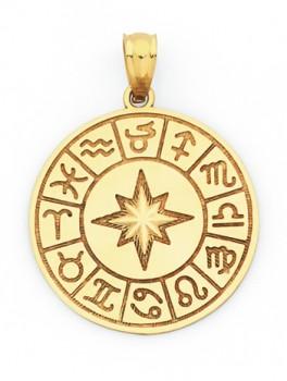 9ct-Gold-Zodiac-Disc-Pendant on sale