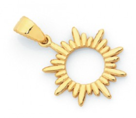 9ct-Gold-Open-Sunburst-Pendant on sale