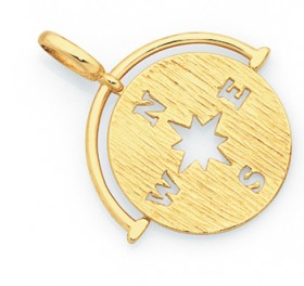 9ct-Gold-15mm-Compass-Pendant on sale