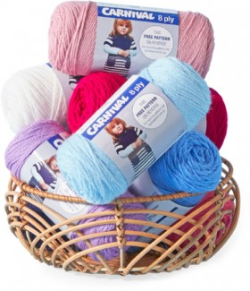 Carnival-8ply-Yarn-or-8ply-Soft-Cotton on sale
