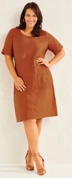 Sara-Embroidered-Linen-Dress on sale