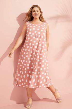 Sara-Button-Linen-Detail-Dress on sale