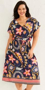 Sara-Gather-Waist-Midi-Dress on sale