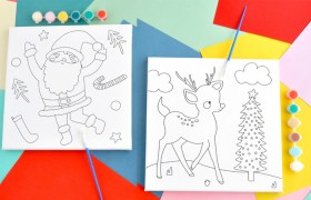 Kaisercraft-Paint-Your-Own-Canvas-Santa on sale