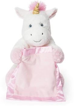 NEW-GUND-Peek-A-Boo-Plush-Unicorn on sale