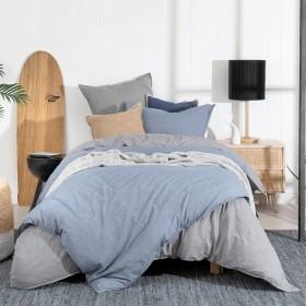 Java-Light-Blue-Quilt-Cover-Set-by-Habitat on sale