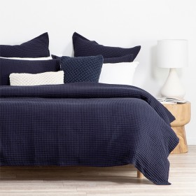 Chunky-Waffle-Navy-Quilt-Cover-Set-by-M.U.S.E on sale